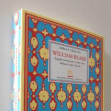 Libros: WILLIAM BLAKE BIOGRAFÍA TRADUCIDA POR VICTORIA LEÓN - CHESTERTON, GILBERT K.. Lote 155773930