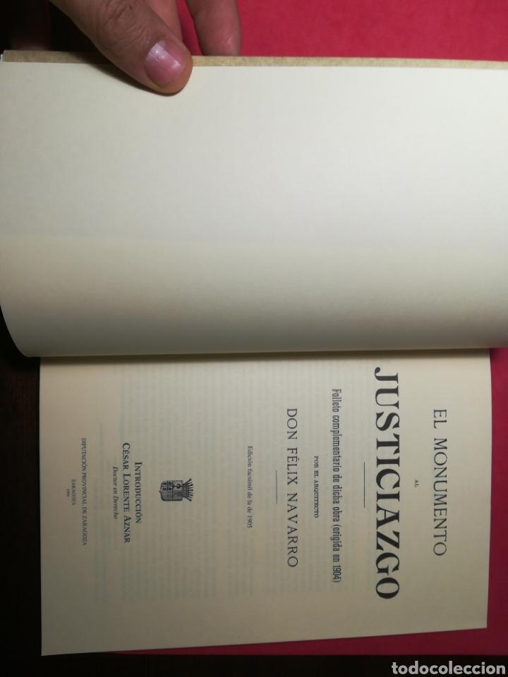Libros: El monumento al Justiciazgo - Edición facsímil de la de 1905 - Diputación de Zaragoza, 1999 - Foto 4 - 155857252