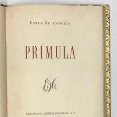 Libros: PRÍMULA. - ANDREIS, ESTER DE.. Lote 123156918