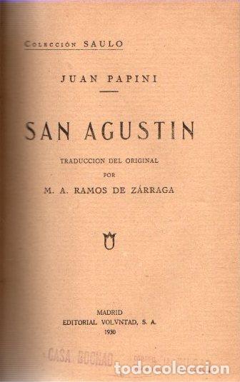 SAN AGUSTIN - PAPINI, JUAN (Libros sin clasificar)