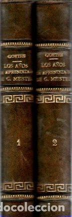 LOS AÑOS DE APRENDIZAJE DE GUILLERMO MEISTER. TOMOS I Y II - GOETHE, J. W. (Libros sin clasificar)