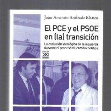 Libros: PCE Y EL PSOE EN (LA) TRANSICION - EL. LA EVOLUCION IDEOLOGICA DE LA IZQUIERDA DURANTE EL PROCESO DE. Lote 156448836