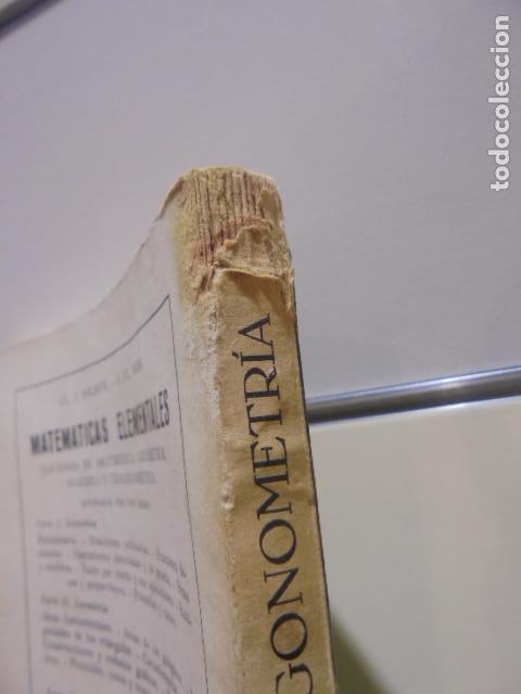 Libros: MATEMATICAS ELEMENTALES TRIGONOMETRIA CON 4000 EJEMPLOS Y SOLUCIONES C. I. PALMER - REVERTE - 1950 - Foto 2 - 156548486