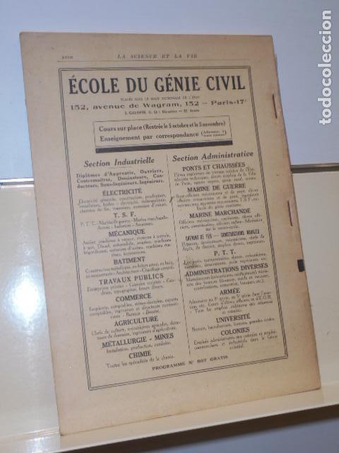 Libros: LA SCIENCE ET LA VIE Nº 109 JUILLET 1926 EN FRANCES - Foto 2 - 156549034