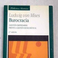 Libros: BUROCRACIA: (GESTIÓN EMPRESARIAL FRENTE A GESTIÓN BUROCRÁTICA). Lote 156944865