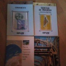 Libros: LOTE DE 4 LIBROS SOBRE LA EXPO 92 DE SEVILLA. Lote 156973130