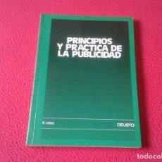Libros: LIBRO PRINCIPIOS Y PRÁCTICA DE LA PUBLICIDAD R. LEDUC EDICIONES DEUSTO 1986 154 PÁGINAS VER FOTO/S . Lote 157050902