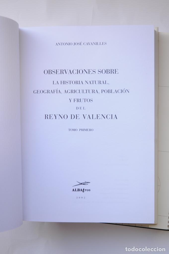 Libros: Observaciones sobre la historia natural, geografía, agricultura, población y frutos del Reyno de Val - Foto 5 - 157718878