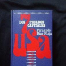 Libros: LIBRO LOS 7 PECADOS CAPITALES EN USA FERNANDO DÍAZ-PLAJA AÑO 1969. Lote 158360900
