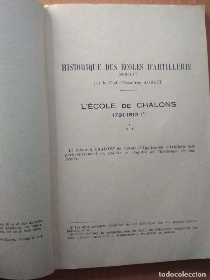 Libros: BULLETIN D'INFORMATION ET DE LIAISON DES OFFICIERS D'ARTILLERIE D'ARCTIVE ET DE RÉSERVE NUMÉRO 7 - Foto 2 - 156548470