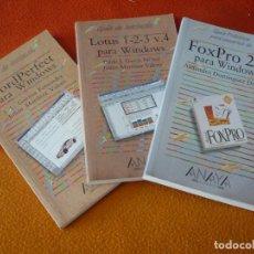 Libros: FOXPRO 2.6 PARA WINDOWS + LOTUS 1-2-3 . 4 +WORDPERFECT GUIA DE INICIACION PRACTICA PARA USUARIOS. Lote 159330282