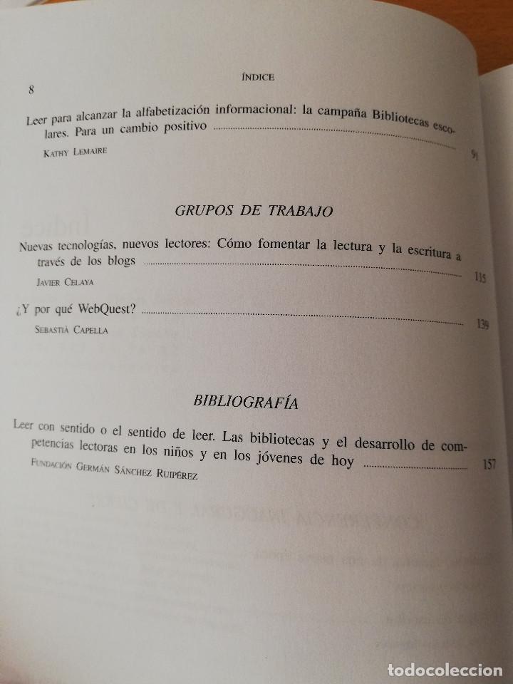 Libros: LEER CON SENTIDO O EL SENTIDO DE LEER (FUNDACIÓN GERMÁN SÁNCHEZ RUIPÉREZ) - Foto 4 - 159380074
