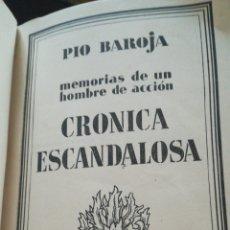Libros: PIO BAROJA. MEMORIAS DE UN HOMBRE DE ACCION. Lote 159830113