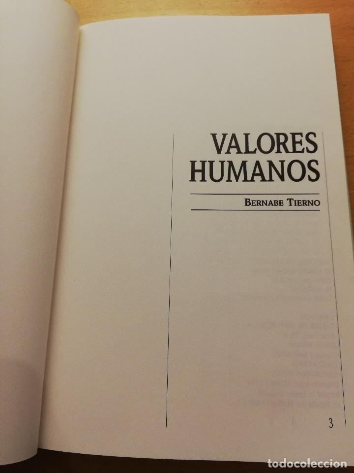 Libros: VALORES HUMANOS. SEGUNDO VOLUMEN (BERNABE TIERNO) - Foto 2 - 160307206