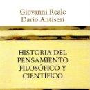 Libros: HISTORIA DEL PENSAMIENTO FILOSÓFICO Y CIENTÍFICO. II DEL HUMANISMO A KANT - REALE, GIOVANNI/ANTISERI. Lote 160769485