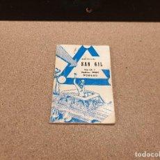 Libros: ANTIGUO LIBRO PARA APRENDER A CONDUCIR....AUTO- ESCUELA SAN GIL....BURGOS.... Lote 161644502