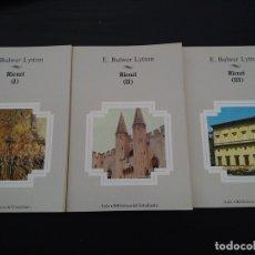 Libros: RIENZI (3 VOLÚMENES). Lote 161684160