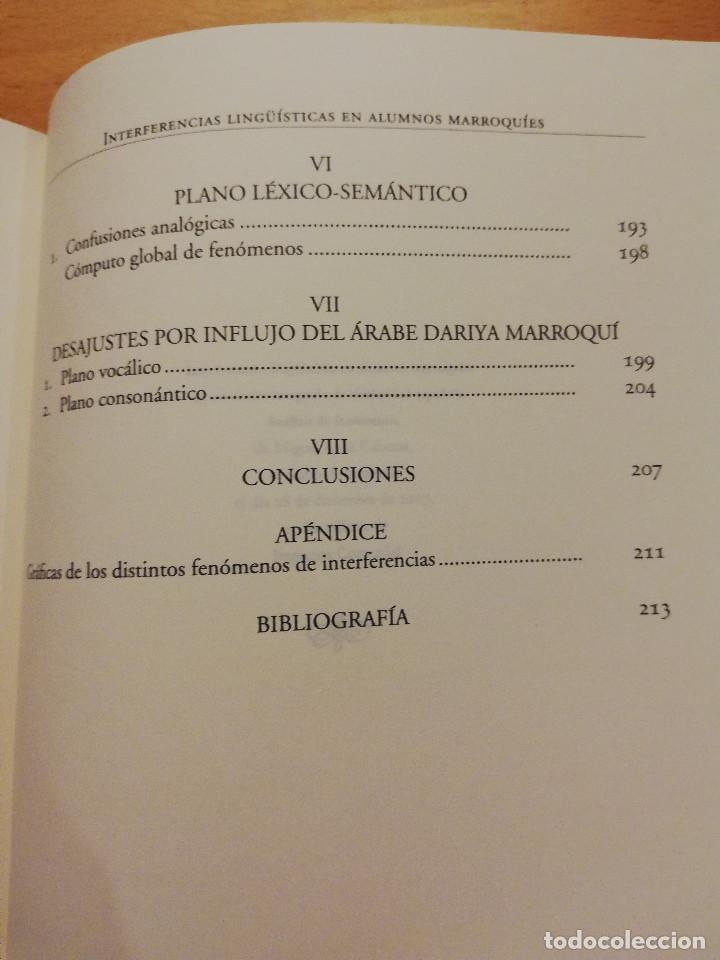 Libros: INTERFERENCIAS LINGÜÍSTICAS EN ALUMNOS MARROQUÍES DE UN CENTRO INTEGRADO DE TITULARIDAD ESPAÑOLA - Foto 5 - 162318598