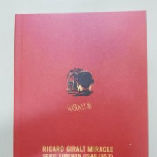 Libros: RICARD GIRALT MIRACLE, SERIE SIMENON (1948-1953) (CARTELES). Lote 162534950