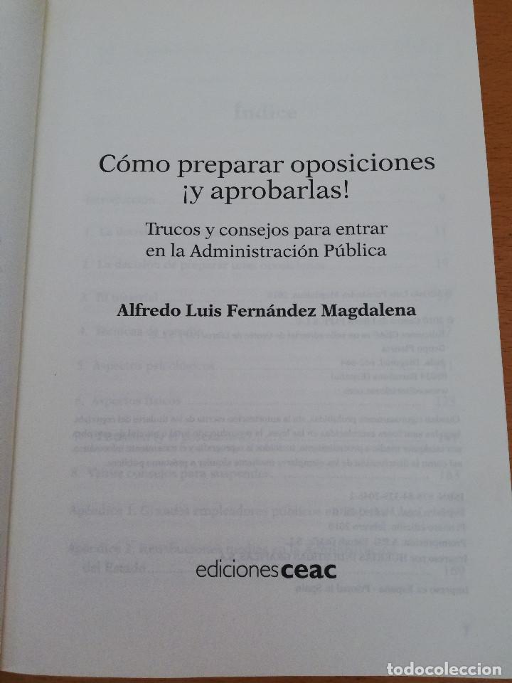 Libros: CÓMO PREPARAR OPOSICIONES ¡Y APROBARLAS! (A. L. FERNÁNDEZ MAGDALENA) EDICIONES CEAC - Foto 2 - 162922390