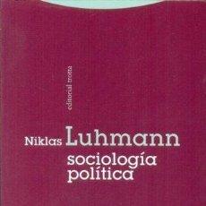 Bücher - SOCIOLOGIA POLITICA -ENVIO GRATIS- - LUHMANN, NIKLAS - 163106580