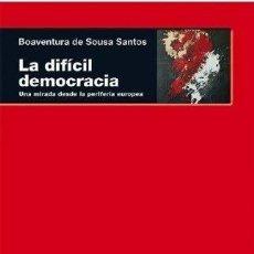 Libros - DIFICIL DEMOCRACIA -ENVIO GRATIS- - DE SOUSA SANTOS, BOAVENTURA - 163167897