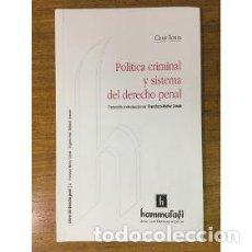 Libros - EL SISTEMA MODERNO DEL DERECHO PENAL -ENVIO GRATIS- - SCHHÜNEMANN, BERND - 163291588