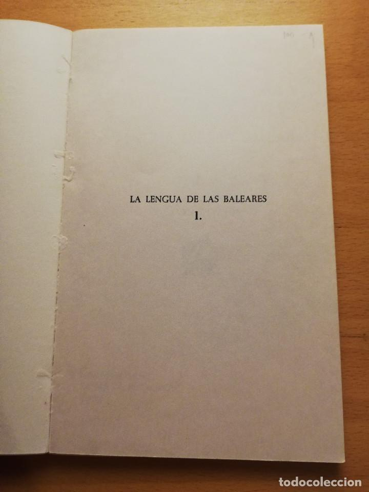 Libros: LA LENGUA DE LAS BALEARES, VOL. 1 (FRANCESC DE B. MOLL) - Foto 2 - 165129694
