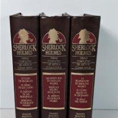 Libros: SHERLOCK HOLMES. 3 TOMOS. SIR ARTHUR CONAN. EDIC. ORBIS. BARCELONA. 1987.. Lote 166530606
