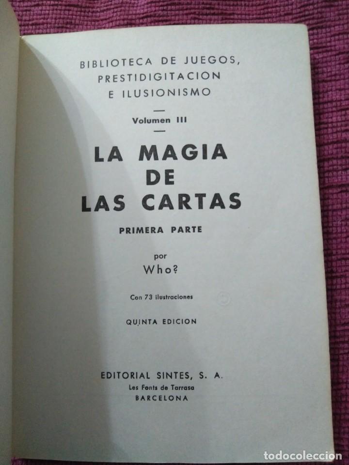 Libros: La magia de las cartas. Juegos, prestidigitación e ilusionismo. Por Who? - Foto 3 - 166842894
