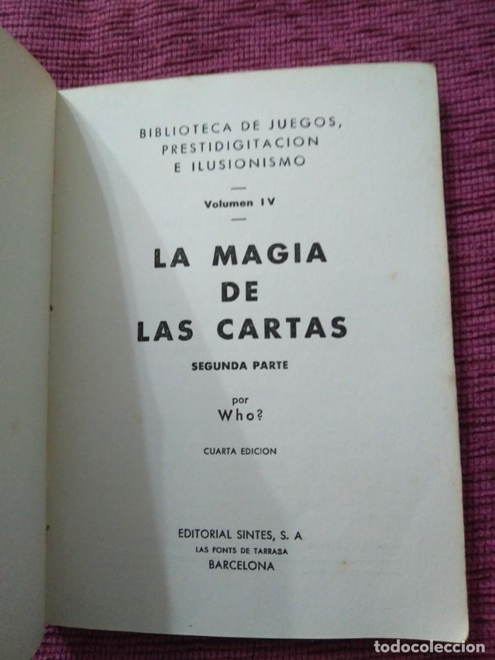 Libros: La magia de las cartas. Juegos, prestidigitación e ilusionismo. Por Who? - Foto 9 - 166842894