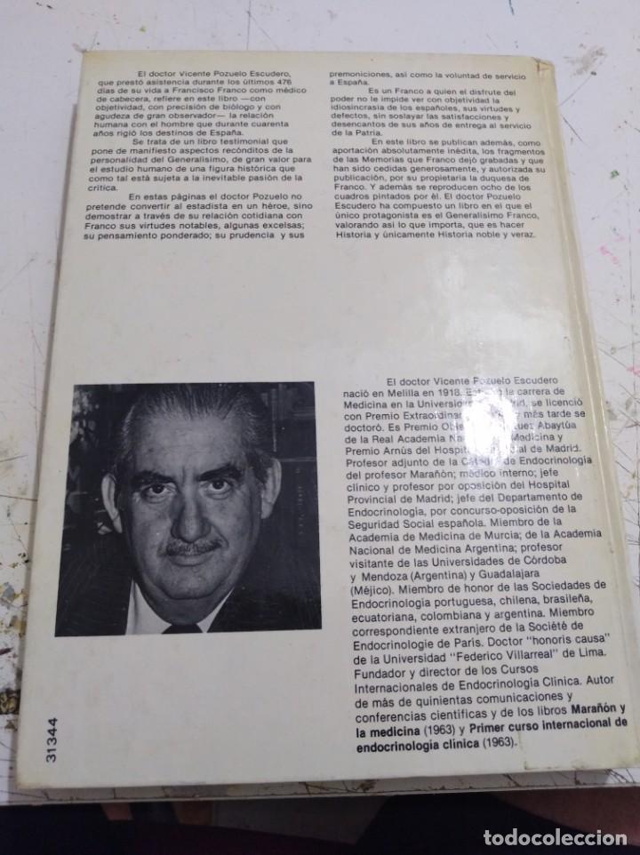 Libros: Libro los últimos 476 días de Franco Vicente pozuelo - Foto 2 - 166916460