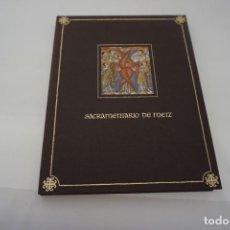 Libros: SACRAMENTARIO DE METZ / FACSIMIL / EDICIONES DE ATE Y BIBLIOGRAFIA. Lote 166933336