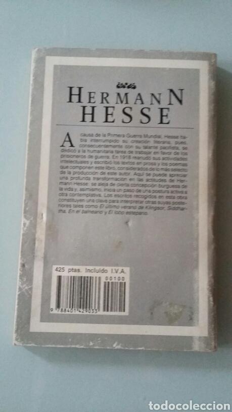 Libros: El caminante. Hermann Hesse. 1987 - Foto 2 - 167135952