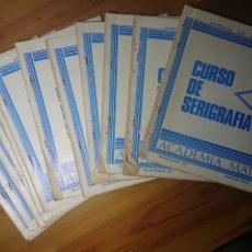 Libros: CURSO DE SERIGRAFIA, ACADEMIA MATER, ENSEÑANZA POR CORRESPONDENCIA (16 VOLUMENES). Lote 167634093