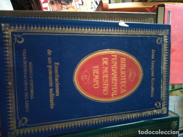 BIBLIOTECA FUNDAMENTAL DE NUESTRO TIEMPO Nº 51 ENSOÑACIONES DE UN PASEANTE SOLITARIO ROUSSEAU (Libros sin clasificar)