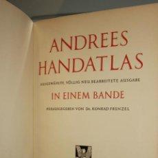 Libros: ATLAS ANDREES HANDATLAS DE 1937. VER FOTO. GRAN FORMATO. Lote 168007808