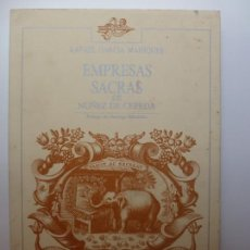 Libros: EMPRESAS SACRAS DE NUÑEZ DE CEPEDA. Lote 168028856