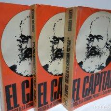 Libros: EL CAPITAL. CRÍTICA DE LA ECONOMIA POLÍTICA. TRES TOMOS - MARX, KARL. Lote 168588249