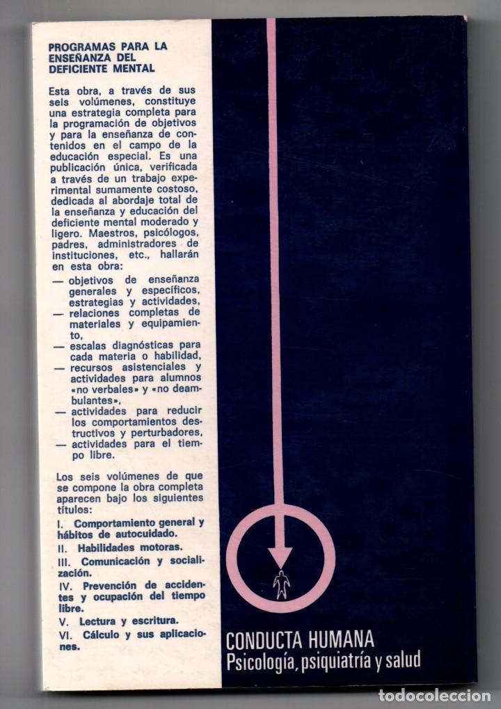 Libros: LIBRO LECTURA Y ESCRITURA PROGRAMAS PARA LA ENSEÑANZA DEL DEFICIENTE MENTAL 5, 1984 MICHAEL BENDER - Foto 2 - 168841868