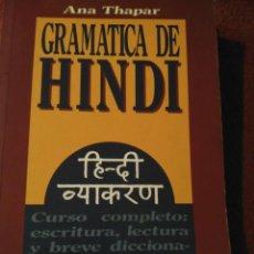 Libros: GRAMÁTICA DE HINDI - ANA THAPAR - ALHAMBRA - RARO. Lote 169025288