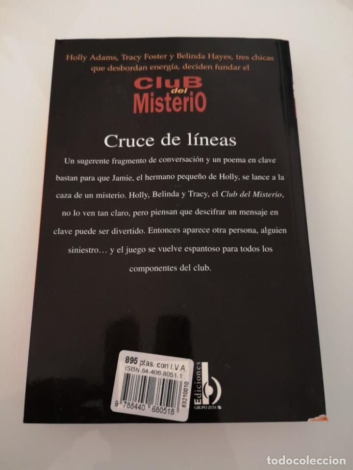 Libros: CLUB DEL MISTERIO CRUCE DE LÍNEAS EDICIONES B NUEVO - Foto 2 - 169976640
