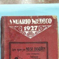 Libros: ANUARIO MEDICO 1927. Lote 170259836