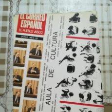 Libros: AULA DE CULTURA - CURSO 1986 / 87 - EL CORREO ESPAÑOL EL PUEBLO VASCO. Lote 170307680