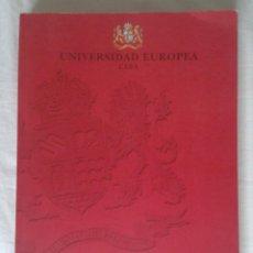 Libros: LIBRO GUÍA DE LA UNIVERSIDAD EUROPEA CEES CURSO 2001 - 2002 MADRID 354 PÁGINAS VER FOTOS Y DESCRIPCI. Lote 170402008