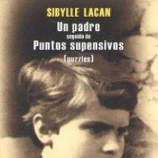 Libros: UN PADRE DE PUNTOS SUSPENSIVOS (PUZZLES). Lote 170614482