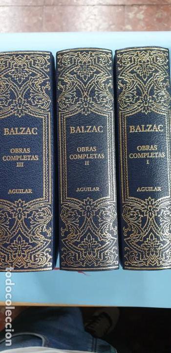OBRAS COMPLETAS TOMOS 1 -2-3 BALZAC AGUILAR EXCELENTE ESTADO (Libros sin clasificar)