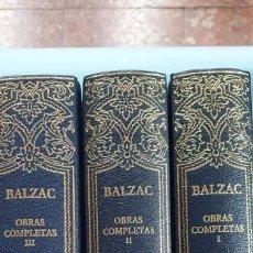 Libros: OBRAS COMPLETAS TOMOS 1 -2-3 BALZAC AGUILAR EXCELENTE ESTADO. Lote 171094269