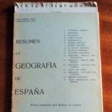 Libros: GEOGRAFÍA DE ESPAÑA. FICHAS SINÓPTICAS. 1954. FERMINA SÁNCHEZ ARANDA. Lote 171224362