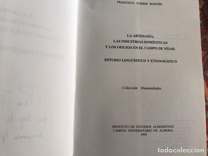 Libros: La artesanía. Las industrias domésticas y los oficios en el campo de Níjar. - Foto 3 - 171966553